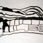 Die Baumrinde wächst - Foto und Zeichnung von Susanne Haun