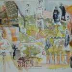 Susannes Collage auf Andreas Fehldruck 2005