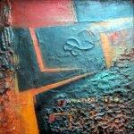 Hong Kong, Öl auf Leinwand von Lisa Mc Neal, 24 x 24 cm, Painted in Tel Aviv