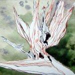 Strilitzie - Zeichnung von Susanne Haun - 20 x 20 cm - Tusche auf Bütten