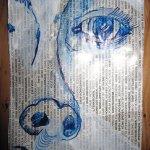 Warum nicht gleich auf dem Zeitungspapier zeichnen - Susanne Haun