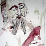 Spielleute - Zeichnung von Susanne Haun - 40 x 30 cm - Tusche auf Bütten