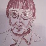 Hannah Höch - Zeichnung von Susanne Haun - 32 x 24 cm - Tusche auf Bütten