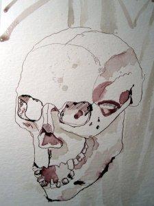 Totenkopf - Ausschnitt Zeichnung von Susanne Haun