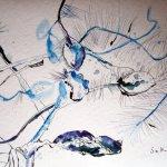 Aus der Stimmung heraus - Zeichnung von Susanne Haun - 36 x 48 cm , Tusche auf Bütten