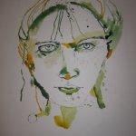 Das Gesicht braucht Haare - Entstehung Zeichnung von Susanne Haun