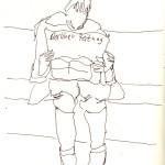 Sie merken meistens nicht, dass ich sie zeichne - Skizze von Susanne Haun
