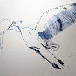 Ich setze die Konturen des Storches - Susanne Haun