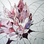 Rhododendron - Zeichnung von Susanne Haun - 30 x 40 cm - Tusche auf Bütten