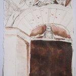 Die Pforte des Himmels - Zeichnung von Susanne Haun - 20 x 15 cm - Tusche auf Bütten