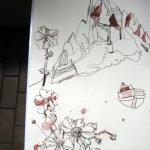 Auf dem Balkon wirft die Sonne schatten auf meine Arbeit - wie gezeichnet - Susanne Haun