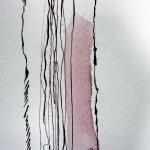 Der Stil ist abstrakt - Auschnitt Zeichnung von Susanne Haun 200 x 40 cm