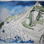 Das ist auch der Weisse Carn von Sliab Moduirn - Zeichnung von Susanne Haun
