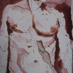 nachdem sie sein Herz in seiner Brust durchbohrt hat - - Zeichnung von Susanne Haun