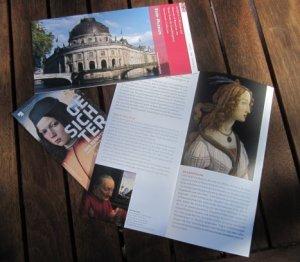 Eintrittskarten und Folder Gesichter der Renaissance - Foto von Susanne Haun