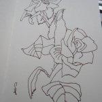 Rose - Skizze von Susanne Haun