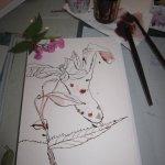 Ich vermute, ich zeichne eine Orchideenart - Zeichnung von Susanne Haun
