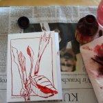 Entstehung rote Blüte - Foto von Susanne Haun