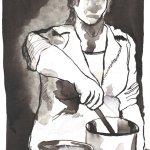 Die herkömmlichen Leute - Zeichnung von Susanne Haun - Tusche auf Bütten - 22 x 17 cm