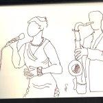 Jazz - Skizze von Susanne Haun