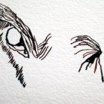 Ich beginne mit den Augen der Kuh - Zeichnung von Susanne Haun