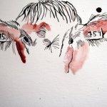 Das Gescheckte entsteht mit dem Pinsel - Zeichnung von Susanne Haun