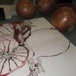 Es stinkt nach Zwiebel! - Zeichnung und Foto von Susanne Haun