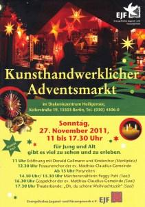 Programm vom Adventmarkt Heiligensee