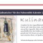 Folder Hahnemühle zum Kalenderwettbewerb