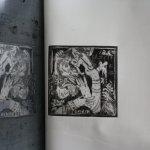 """Druck der schwarzen Platte der Radierung """"Adam und Eva"""" von Susanne Haun"""