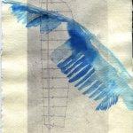 Flügelschwung Version 2 - ÜberZeichnung von Susanne Haun - 30 x 20 cm - Tusche auf Bütten