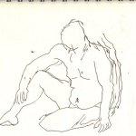 Position 2: sitzender Akt - Version 3 - Skizze von Susanne Haun
