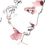 Sieht so Pele aus? - Zeichnung von Susanne Haun - 24 x 17 cm - Tusche auf Bütten