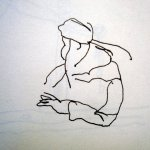 In der U-Bahn - Skizze von Susanne Haun