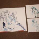 Größenvergleich Zeichnungen Säulenträgerin von Susanne Haun
