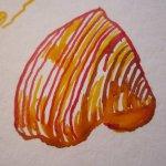 Ein Tulpenblatte - Tusche auf Bütten von Susanne Haun