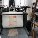 Auflagen drucken - rote Platte Akt (c) Foto von Radierungen von Susanne Haun