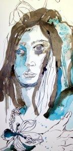 Detail Maria Magdalena (c) Zeichnung von Susanne Haun (2)