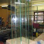 Entstehung Objekt Otto Lilienthal in der Glaserei Terasa (c) Foto von Jeanette Zeidler