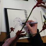 Kurs A - Blumenstücke, Schülerin Peggy (c) Foto von Susanne Haun