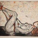 Ligender Akt, 2 Platten, 10 x 15 cm(c) Radierung von Susanne Haun