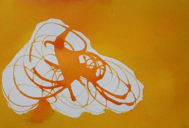 Strudel GELB Version II (c) Detail Zeichnung von Susanne Haun