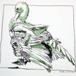 Hausente auf Hahnemühle Papier (c) Zeichnung von Susanne Haun