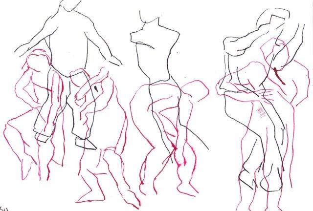 Bewegung und Tanz IV (c) Zeichnung von Susanen Haun
