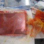 Die Farbplatte in rot (c) Susanne Haun