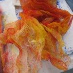 Ich mag die farbige Wischgaze (c) Susanne Haun