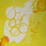 Disziplin 15 x 15 cm Tusche auf Bütten (c) Zeichnung von Susanne Haun