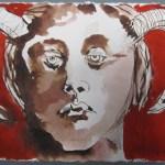 Asasel, 15 x 20 cm, Tusche auf Bütten (c) Zeichnung von Susanne Haun