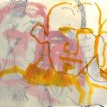 Überlagerung rot gelb Boccioni (c) Zeichnung von Susanne Haun