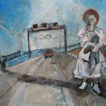 Auf der Autobahn 2006 Acryl auf Leiwand 80 x 100 cm (c) Susanne Hann